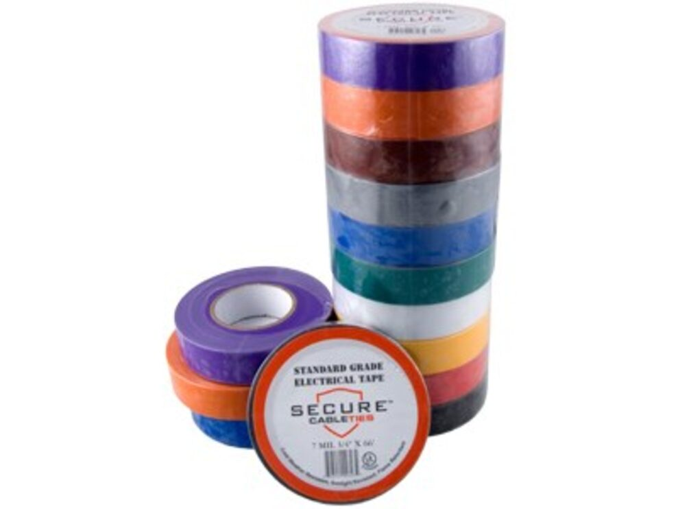 10 pack multicolored electrical tape