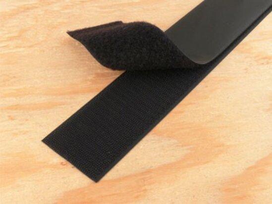 black 1.5 inch self adhesive hook and loop tape