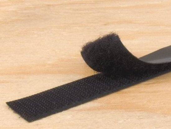 black 3\4 inch self adhesive hook and loop tape