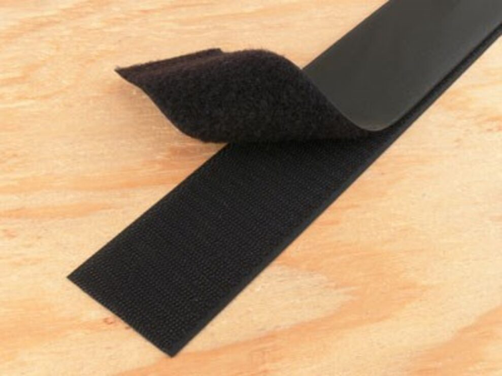 black 4 inch self adhesive hook and loop tape