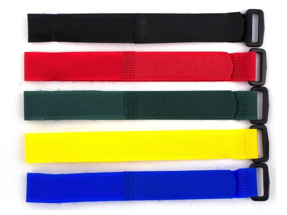 12 x 1 1/2 Inch Heavy-Duty Black Cinch Strap - 5 Pack