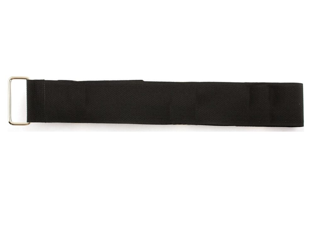black 24 x 1.5 inch cinch strap with metal buckle