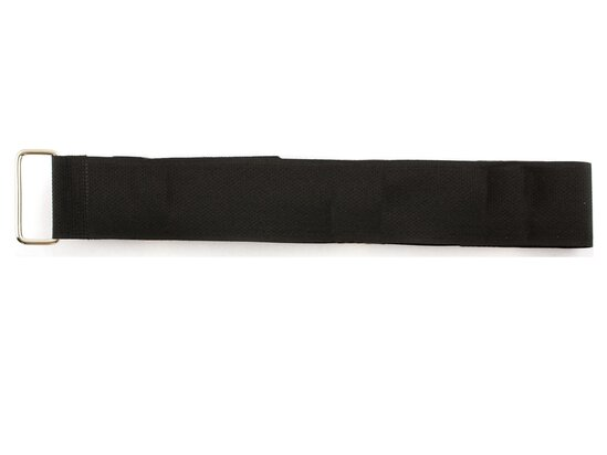 black 36 x 1.5 inch cinch strap with metal buckle