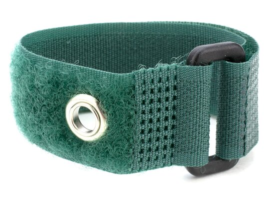 green 18 x 1 inch cinch strap with eyelet