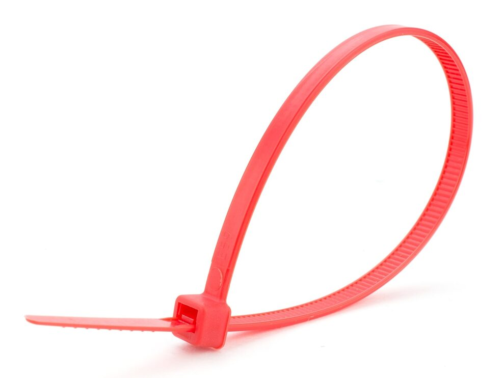 8 inch red intermediate cable tie
