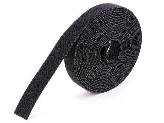 black continuous 1 inch hook and loop wrap