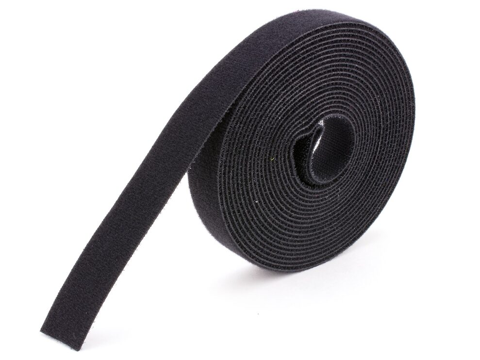 black continuous 3\8 inch hook and loop wrap