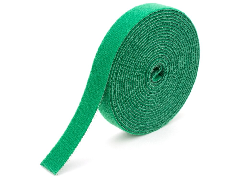 green continuous 3\4 inch hook and loop wrap