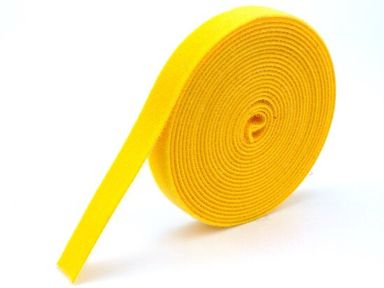 yellow continuous 3\4 inch hook and loop wrap
