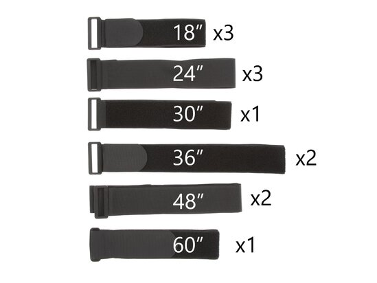 cinch strap variety pack, velcro cinch strap, hook and loop