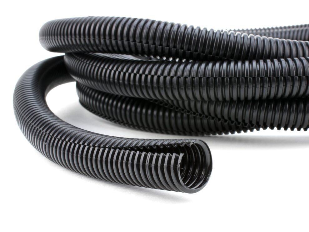 100 foot black flexible split loom