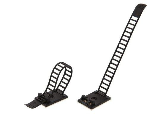 black adjustable cable strap