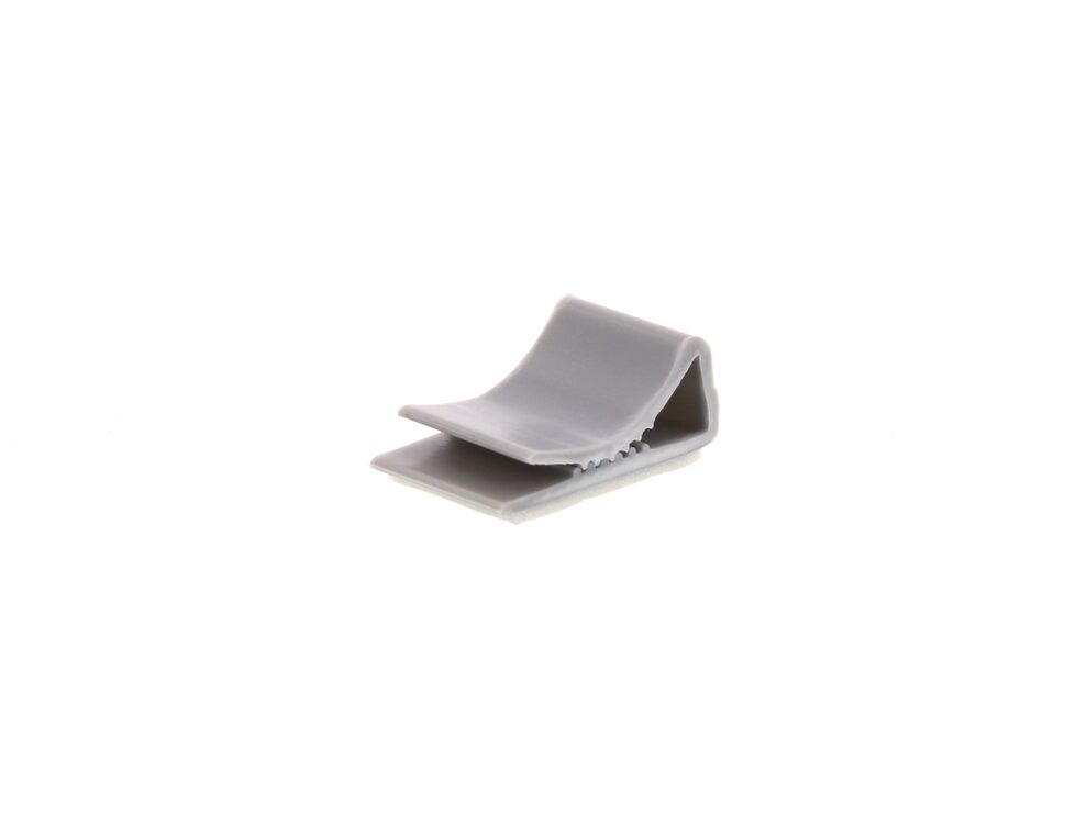 Picture of 15 mm Gray Flat Cable Clamp - 100 Pack