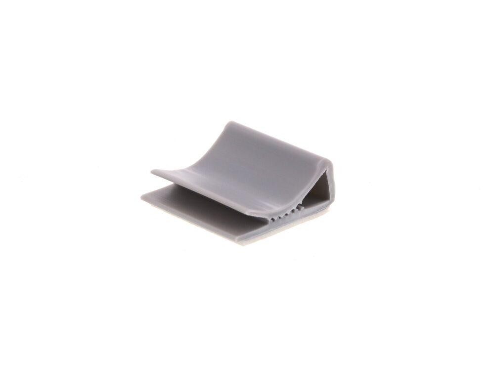 Picture of 25 mm Gray Flat Cable Clamp - 100 Pack