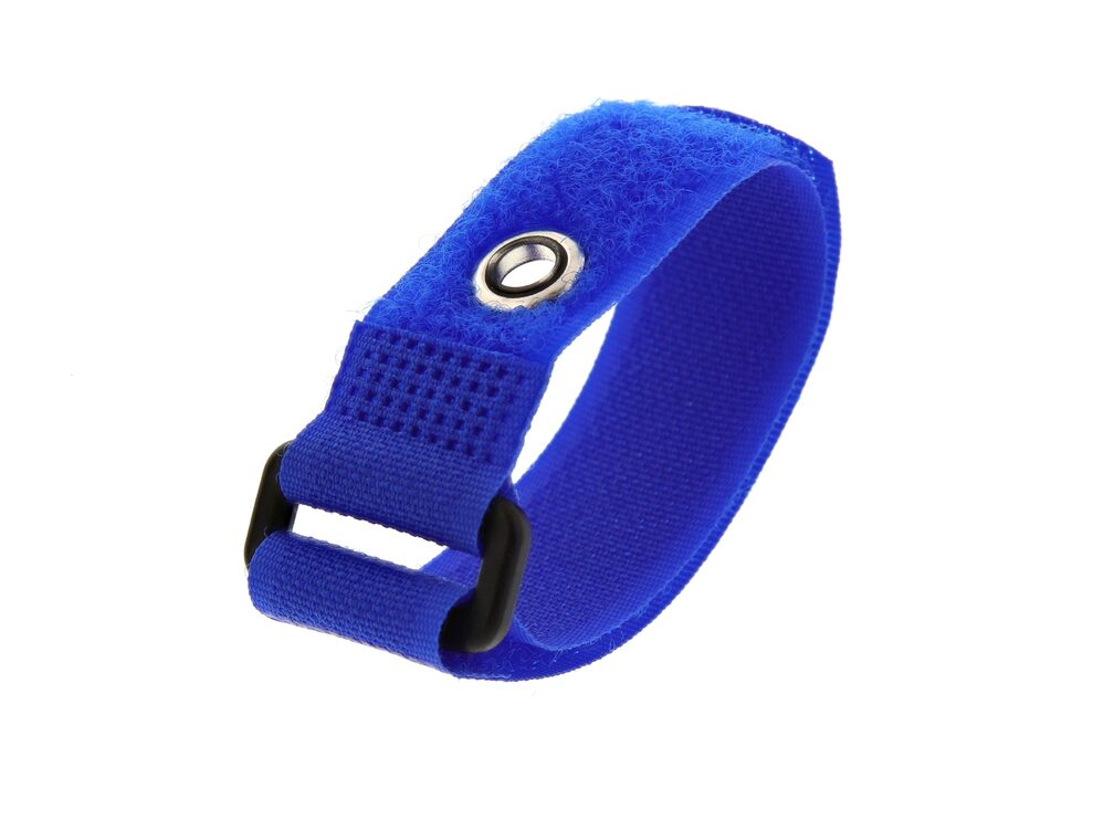Picture of 8 Inch Blue Cinch Strap with Eyelet - 5 Pack