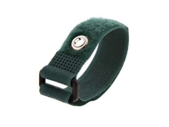 Picture of 8 Inch Green Cinch Strap with Eyelet - 5 Pack