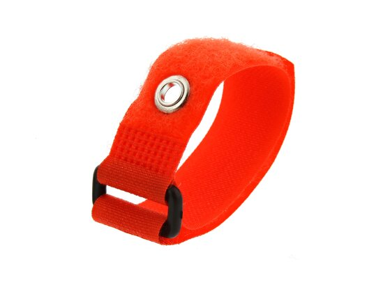Picture of 8 Inch Orange Cinch Strap with Eyelet - 5 Pack