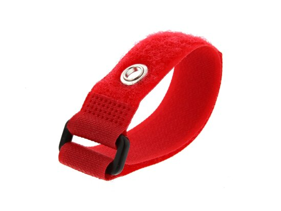 Picture of 8 Inch Red Cinch Strap with Eyelet - 5 Pack