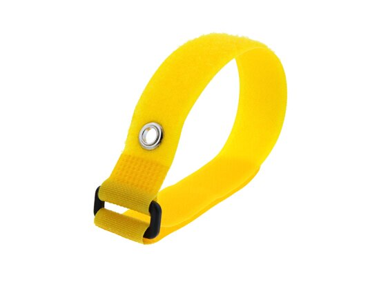 Picture of 12 Inch Yellow Cinch Strap with Eyelet - 5 Pack