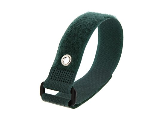 Picture of 12 x 1 Inch Green Cinch Strap with Eyelet - 5 Pack