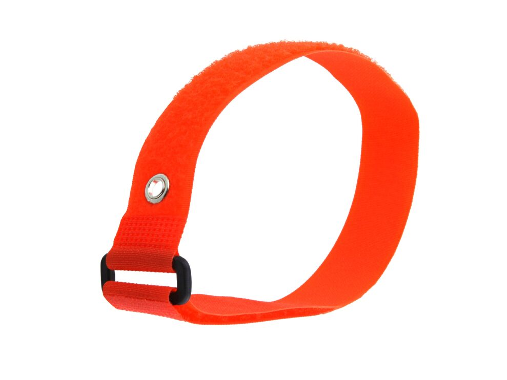 Picture of 18 x 1 Inch Orange Cinch Strap with Eyelet - 5 Pack