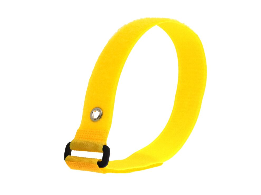 Picture of 18 x 1 Inch Yellow Cinch Strap with Eyelet - 5 Pack