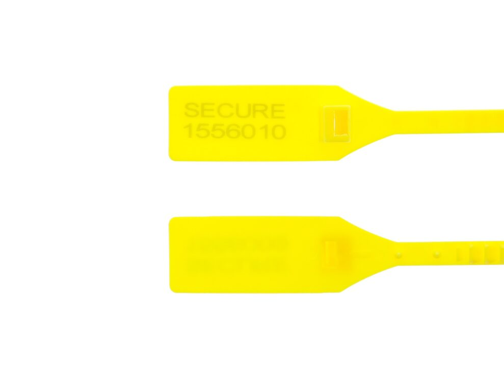 13 Inch Heavy-Duty Yellow Tamper Evident Plastic Seal