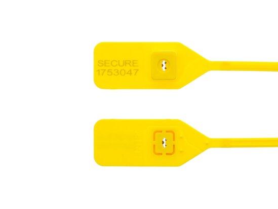 13 Inch Standard Yellow Tear Away Plastic Seal