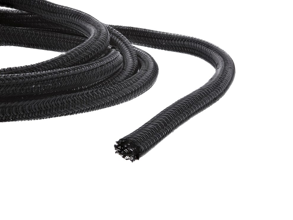 Picture of 1/4 Inch Self-Closing Braided Wrap 100FT - Black
