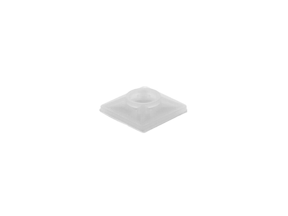 natural 3\4 inch square adhesive tie mount