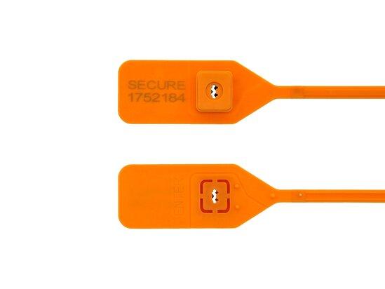 orange 13 inch standard tamper evident plastic security seal