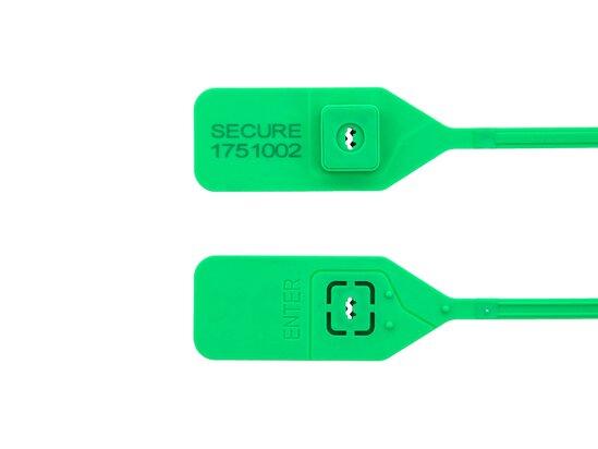 green 14 1\2 inch standard green Tamper evident plastic seal