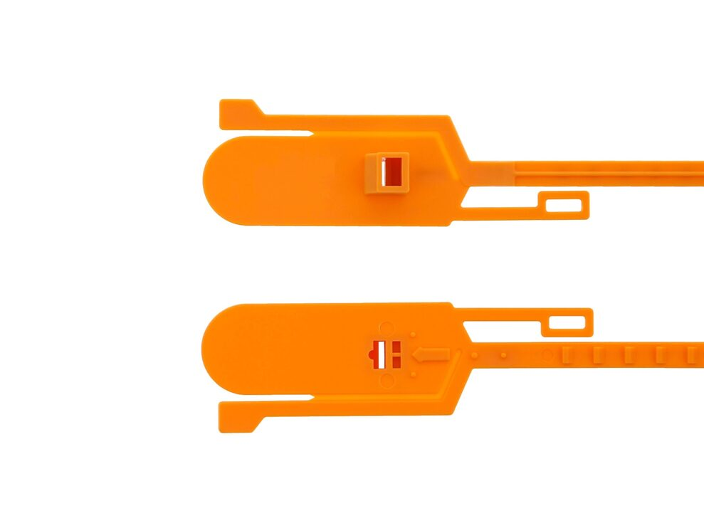 orange 15 inch blank tamper evident security seal