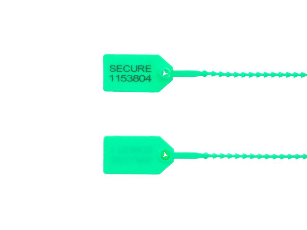 8 Inch Light-Duty Green Pull Tight Plastic Seal
