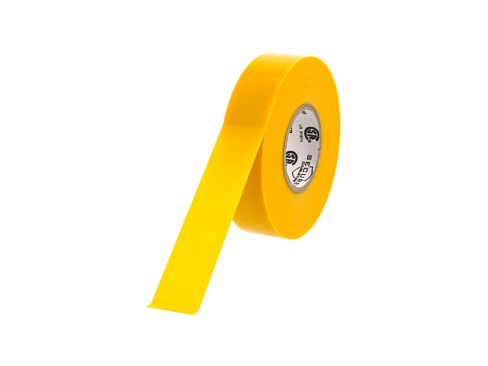Picture of Yellow Electrical Tape 3/4 Inch x 66 Feet