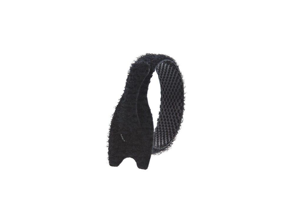 Picture of 3 1/2 Inch Black Hook and Loop Tie Wrap - 7 Pack