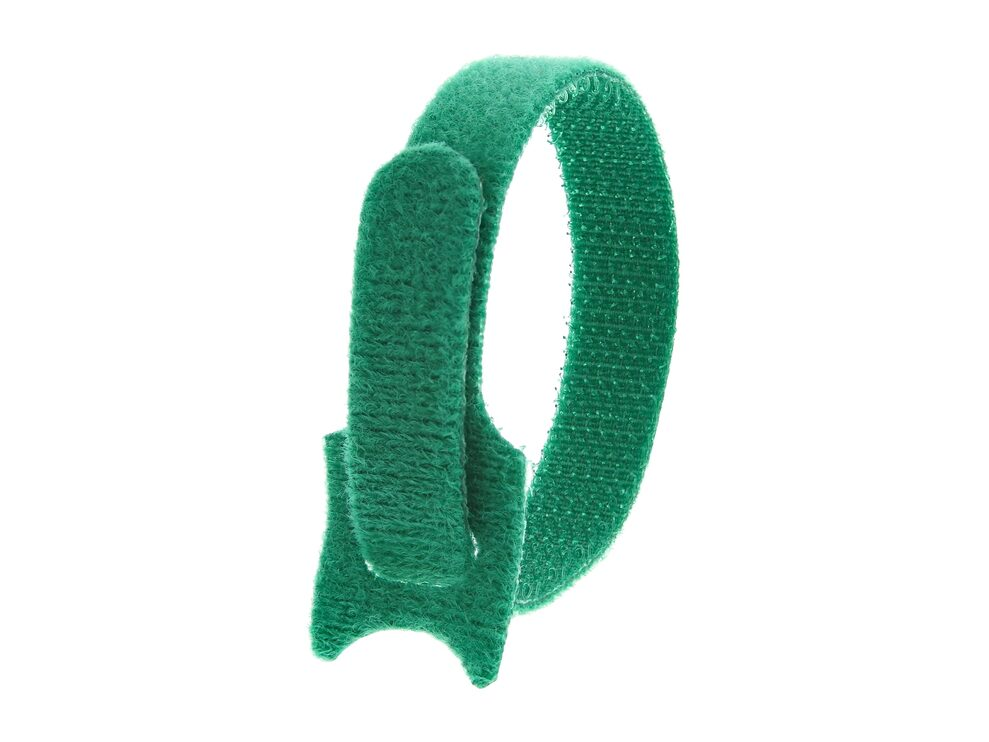 Picture of 8 Inch Green Hook and Loop Tie Wrap - 50 Pack