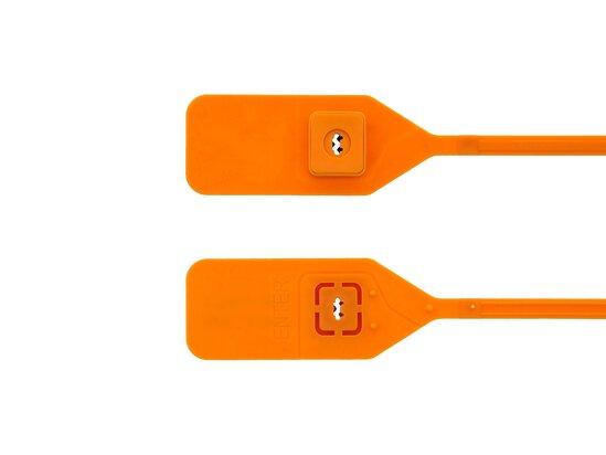 13 Inch Standard Unlabeled Orange Tear Away Plastic Seal