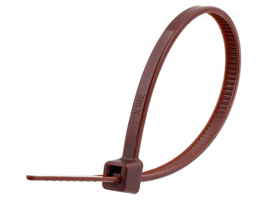 4 Inch Brown Miniature Cable Tie