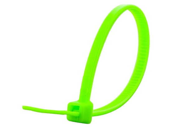 4 Inch Neon Green Miniature Cable Tie