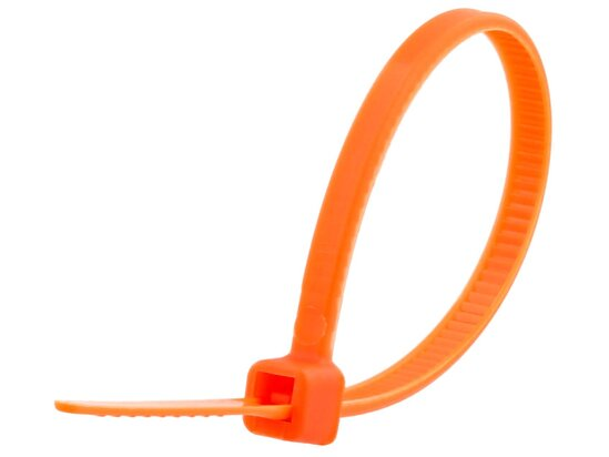 4 Inch Orange Miniature Cable Tie