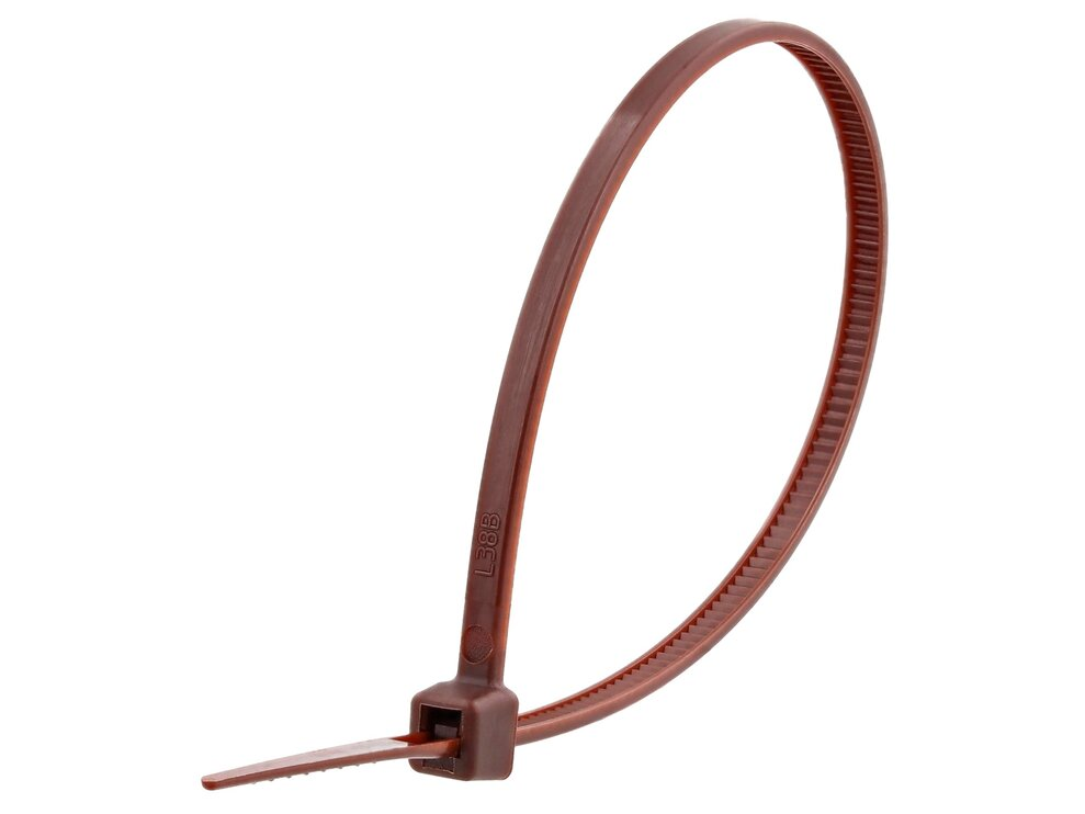 6 Inch Brown Miniature Cable Tie