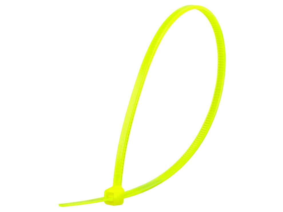 8 Inch Fluorescent Yellow Miniature Cable Tie