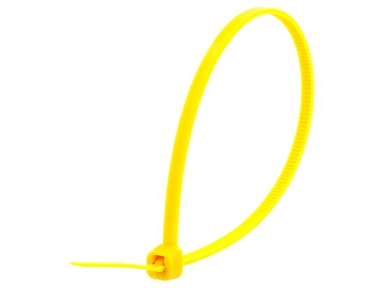 8 Inch Yellow Intermediate Cable Tie