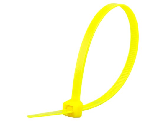 8 Inch Fluorescent Yellow Standard Cable Tie