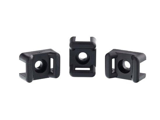 black 6.3mm saddle tie mount
