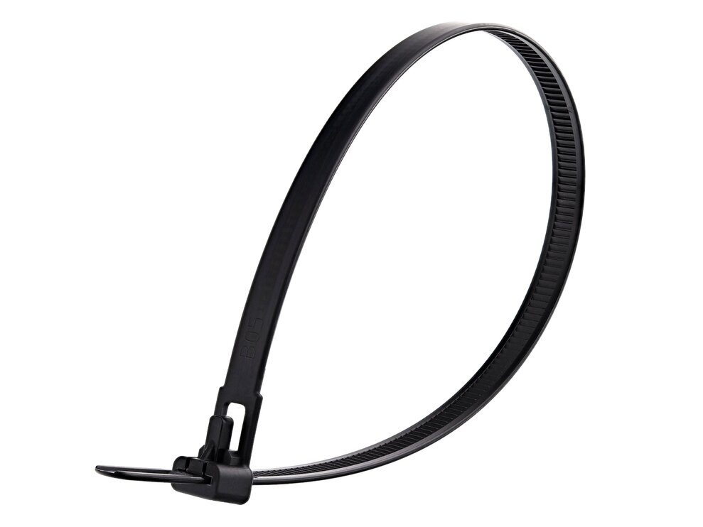 12 Inch Black Standard Releasable Cable Tie