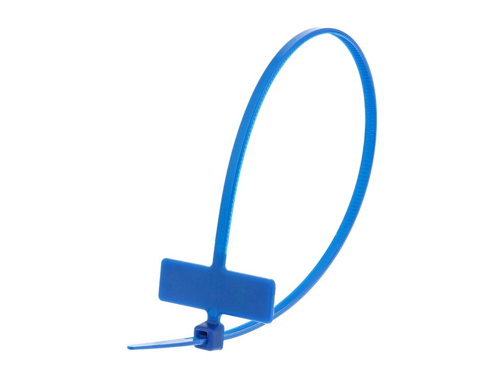 Inside Flag 8 Inch Blue Miniature Identification Cable Tie Loop