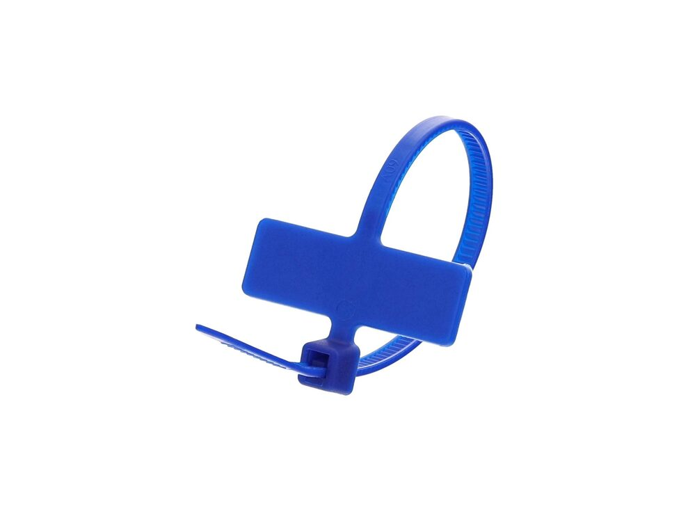 Inside Flag 4 Inch Blue Miniature ID Cable Tie Loop