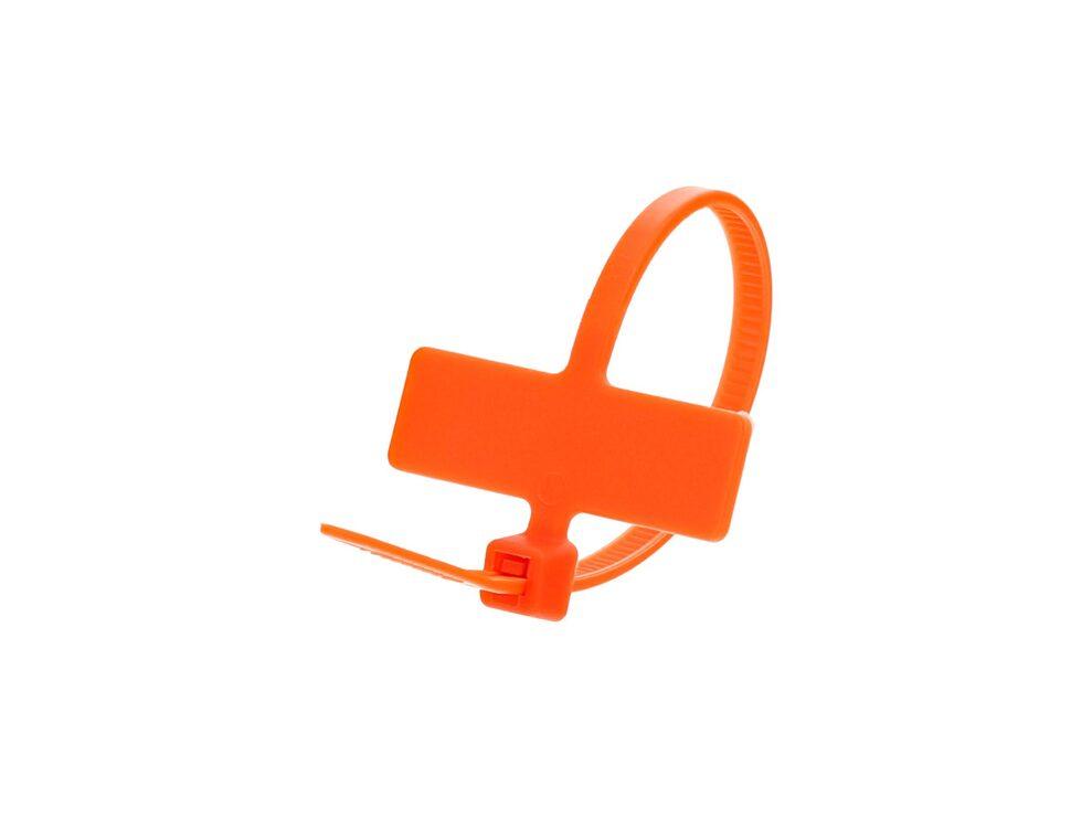 Inside Flag 4 Inch Orange Miniature ID Cable Tie Loop